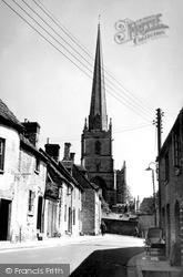St Mary's Church From West Street c.1955, Tetbury