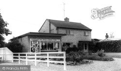 Teversham, Post Office Corner c.1965