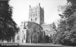 Tewkesbury, Abbey c.1960