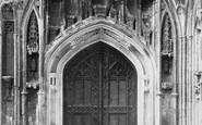 Tewkesbury, Abbey, Cloister Door 1893