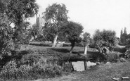 Tewkesbury, Abbey From The Fields 1891