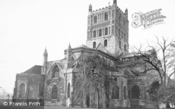 Tewkesbury, Abbey, From The North East c.1955