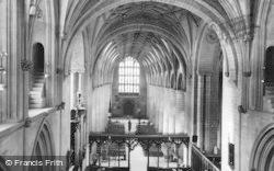 Tewkesbury, Abbey, Interior c.1955
