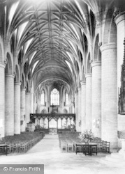 Tewkesbury, Abbey, The Nave c.1955