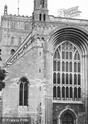 Tewkesbury, Abbey, West Front c.1955