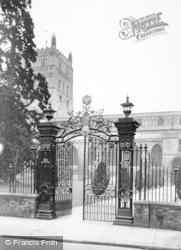 Tewkesbury, Abbey, Wrought Iron Gates c.1955