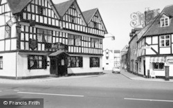Tewkesbury, Bell Hotel And Mill Street c.1955