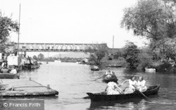 Tewkesbury, Boating On The River c.1955