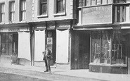 Tewkesbury, Edmund Hemus's Iron & Agricultural Implement Warehouse, High Street c.1869