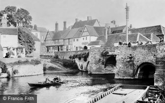 Tewkesbury, King John's Bridge, River Avon 1907