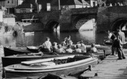 Tewkesbury, Leisure Boat On The Thames c.1960
