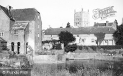 Tewkesbury, Old Mill And The Abbey c.1955