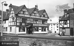 Tewkesbury, The Bell Hotel And Abbey Mill c.1955