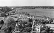 Tewkesbury, The Caravan Park From The Abbey Tower c.1965