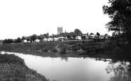 Tewkesbury, The Caravan Park From The River Avon c.1960
