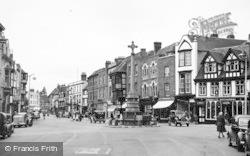 Tewkesbury, The Cross And Church Street c.1955