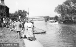 Tewkesbury, The River And Boating Station c.1955