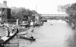 Tewkesbury, The River And Boating Station c.1960