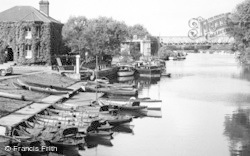 Tewkesbury, The River From King John's Bridge c.1955