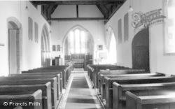 Thakeham, St Mary's Church Interior c.1960