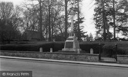 Thame, The Memorial c.1955