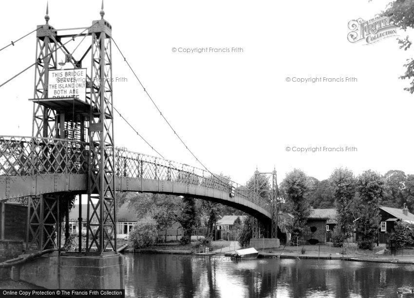 Thames Ditton, the Bridge c1960
