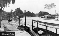 Thames Ditton, The River Thames c.1955
