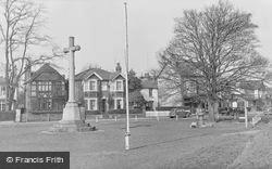 Thames Ditton, War Memorial At Giggs Hill Green c.1955