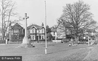 Thames Ditton, War Memorial at Giggs Hill Green c1955