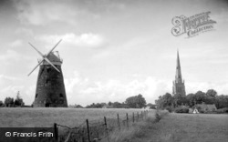 The Windmill And Church c.1950, Thaxted