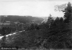 Gold Hill Estate From Gong Hill 1909, The Bourne