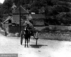 The Bourne, Horse And Cart 1906