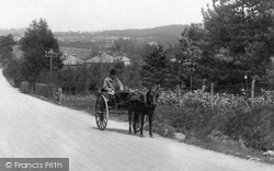 The Bourne, Horse And Cart, Frensham Road 1909