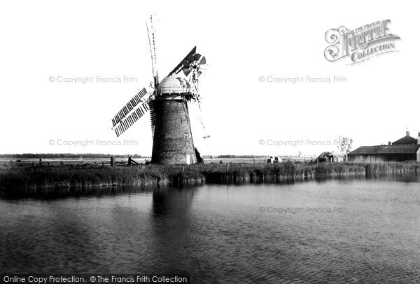 The Broads,the Mill c1955,Norfolk