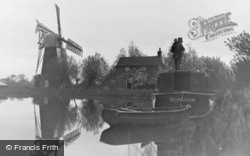 The Broads, a Photographer at Hunsett Mill c1935
