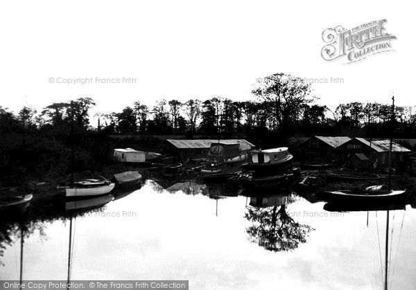 Photo of The Broads, Barton Staithe, The Boat Yard c.1931
