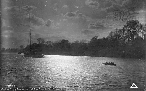Photo of The Broads, Boat Returns At Evening c.1939