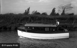 The Broads, Cirrus II, Johnson's Boats c.1933, The Norfolk Broads