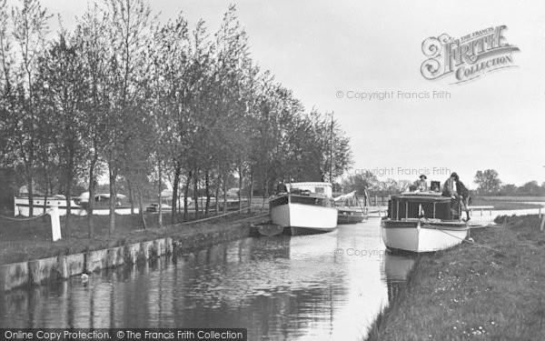 Photo of The Broads, Cruisers At Ranworth Broad c.1931