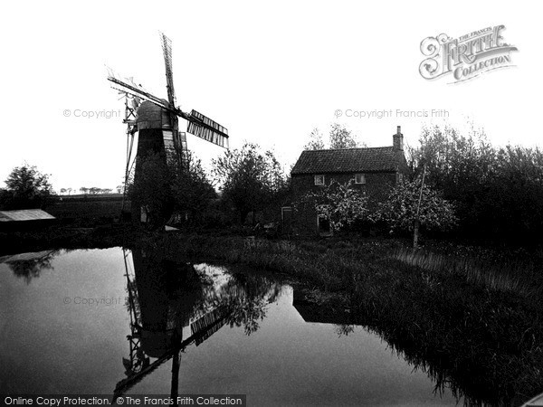 The Broads,Hunset Mill c1955,Norfolk