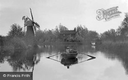The Broads, Hunsett Mill On The River Ant At Stalham c.1925, The Norfolk Broads