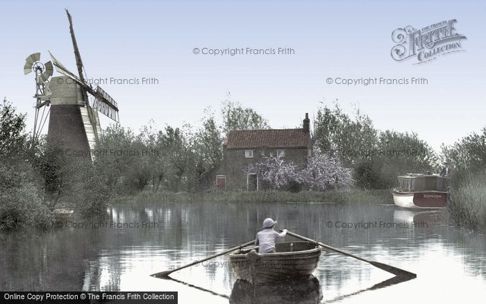 Photo of The Broads, Hunsett Mill On The River Ant At Stalham c.1925