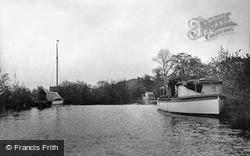 The Broads, Moored For The Night, Barton Broad c.1931