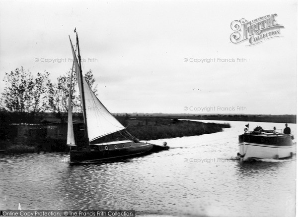 The Broads, On The Bure, Near St Benet's Abbey c.1931