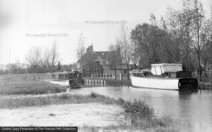 Photo of The Broads, Pleasure Boat, Hickling Broad c.1931