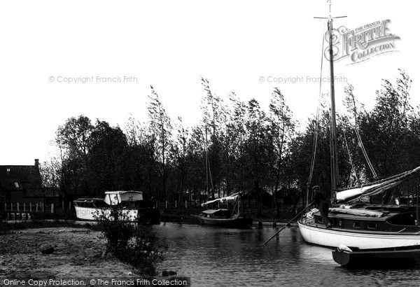 Photo of The Broads, Pleasure Boats Staithe, Ranworth Broad c.1931
