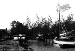 The Broads, Pleasure Boats Staithe, Ranworth Broad c.1931