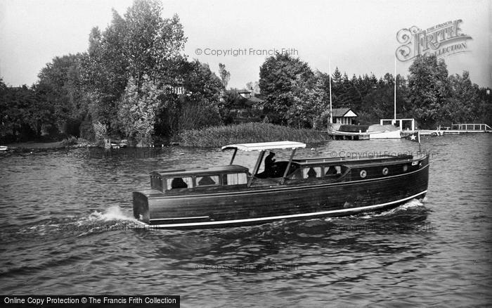 Photo of The Broads, 'silver Swallow' c.1933