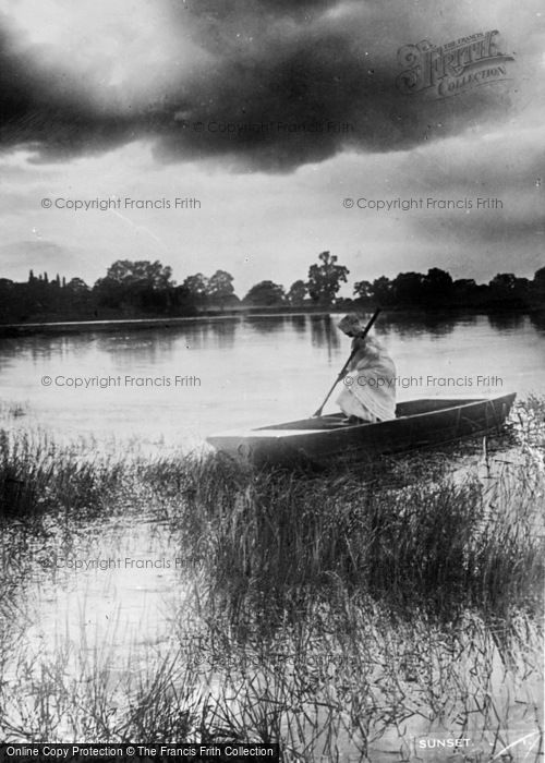 Photo of The Broads, Sunset c.1932