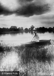 The Broads, Sunset c.1932, The Norfolk Broads